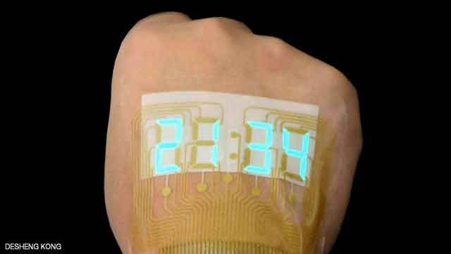الوشم الذكي شاشة العرض تحمل اسم أسيل آخر صيحات التكنولوجيا